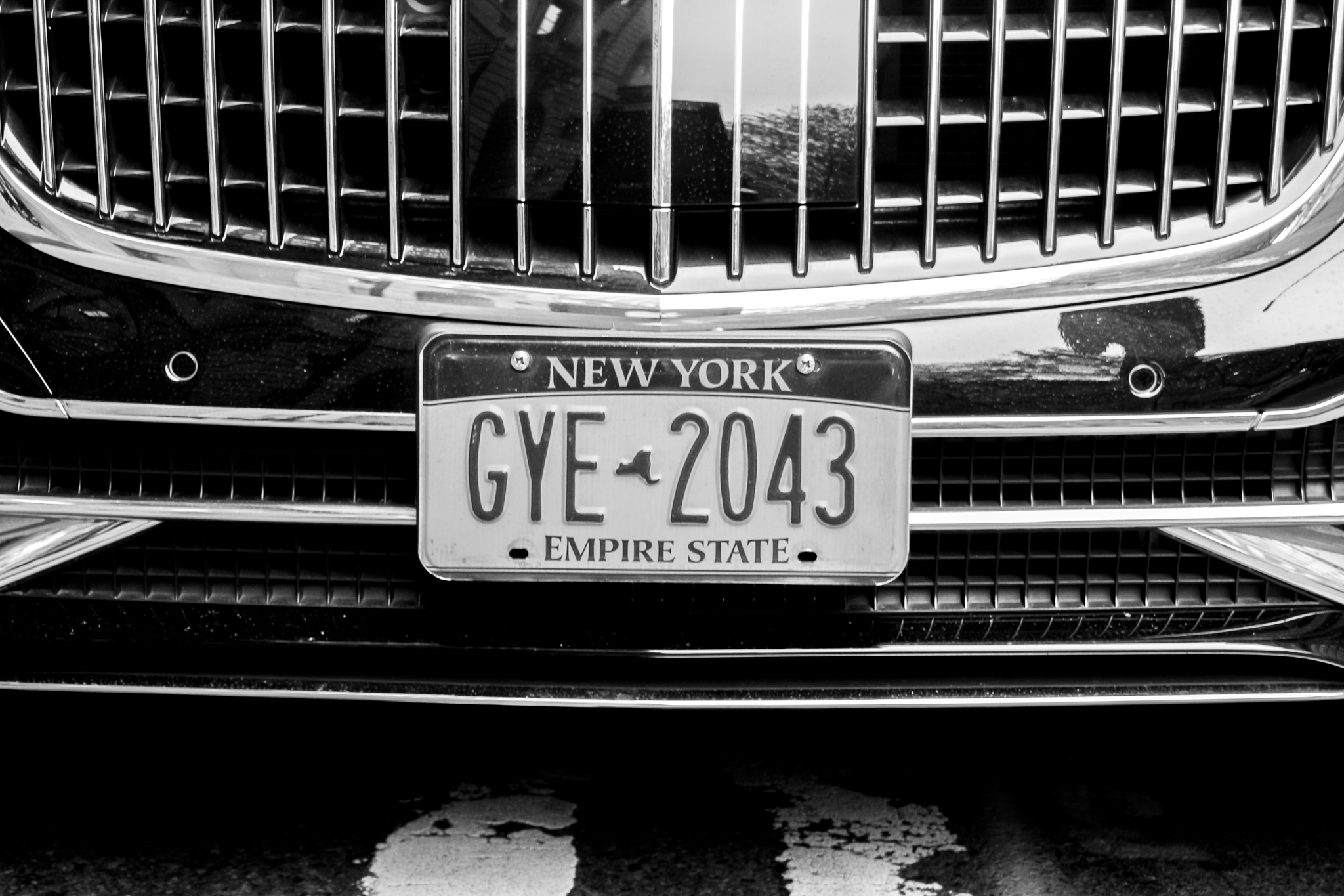 Car plate NY